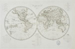 Mappemonde, 1812