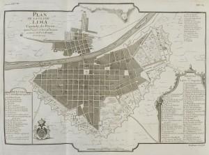Plan de la ville de Lima