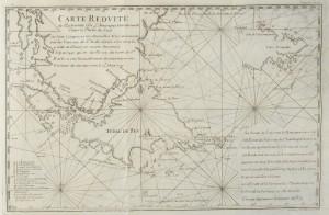 Carte réduite de l'extrémité de l'Amérique méridionale dans la partie sud
