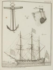 Navire anglais prenant la mer