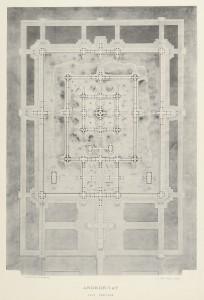 Plan restauré d'Angkor-Vat