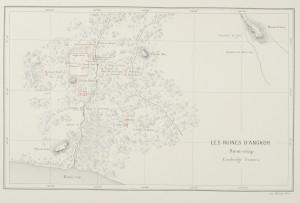 Carte des ruines d'Angkor