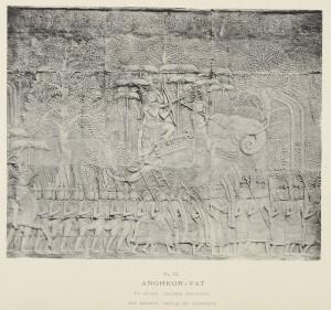 Bas relief représentant un défilé de guerriers