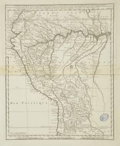 Carte du Pérou d'après les observations du P.Feuillée et de M.Frézier