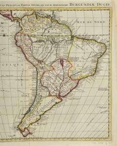 Détails de la carte de l'Amérique méridionale