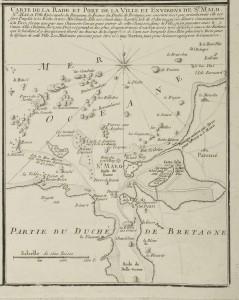 Carte de Saint Malo